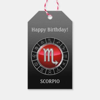 Etiqueta Para Presente Escorpião - o sinal do zodíaco do escorpião