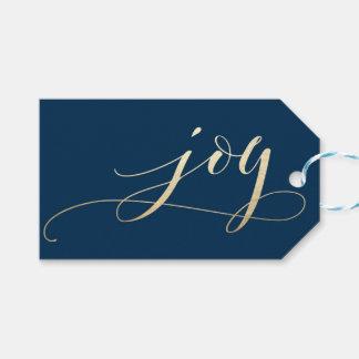 Etiqueta Para Presente Feriado elegante do Natal da folha do falso da