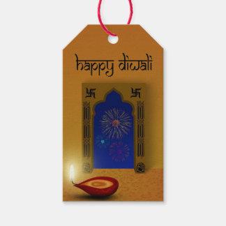 Etiqueta Para Presente Fogos-de-artifício felizes festivos de Diwali -