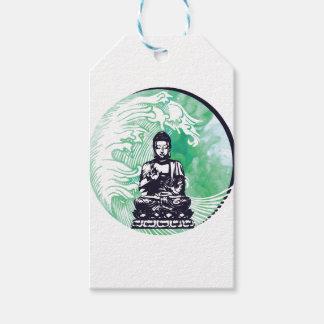 Etiqueta Para Presente Fumo da esmeralda da onda de Buddha do tufão