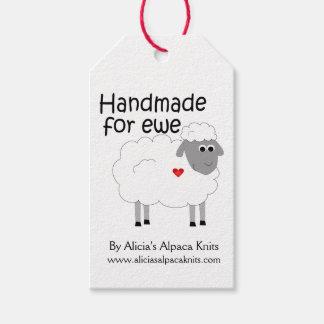 Etiqueta Para Presente Handmade para o Hangtag da ovelha