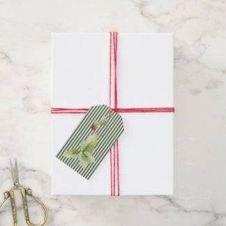 Etiqueta Para Presente Listras e Tag do presente do Natal do azevinho