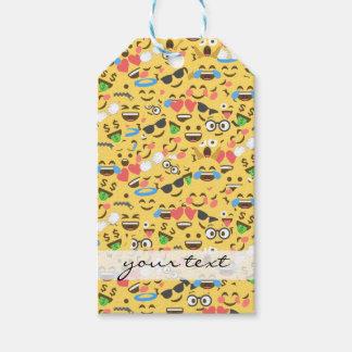 Etiqueta Para Presente o amor bonito do emoji ouve o teste padrão do riso