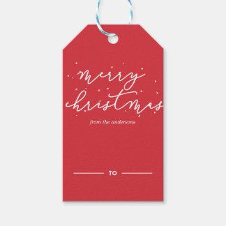 Etiqueta Para Presente O Natal Sparkles Tag do presente