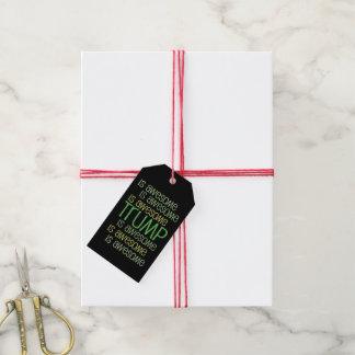 Etiqueta Para Presente O TRUNFO é engrenagem verde impressionante do