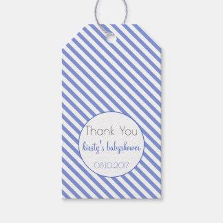 Etiqueta Para Presente Obrigado Tag do presente de Babyshower das listras