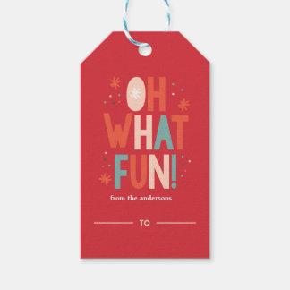 Etiqueta Para Presente Oh que divertimento! Tag festivo do presente da