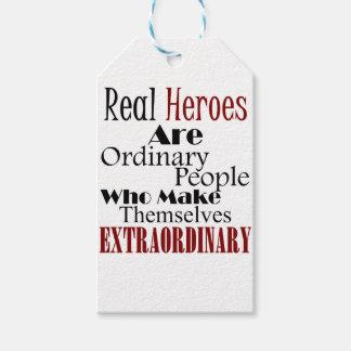 Etiqueta Para Presente Pessoas extraordinárias dos heróis reais