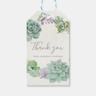 Etiqueta Para Presente Succulents do cacto do deserto da aguarela que