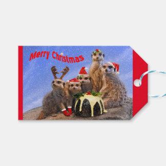 Etiqueta Para Presente Tag alegres do presente de Meerkats