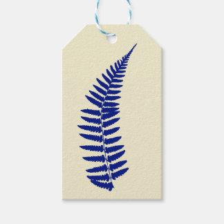 Etiqueta Para Presente Tag azul do presente da samambaia