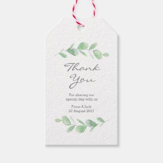 Etiqueta Para Presente Tag do favor do casamento da aguarela do jardim do
