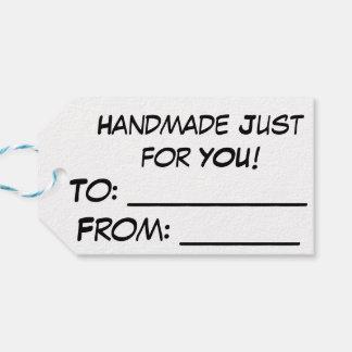 """Etiqueta Para Presente Tag do gato de Yarnivore """"Handmade apenas para"""