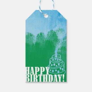 Etiqueta Para Presente Tag do presente da escova de pintura do feliz