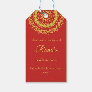 Etiqueta Para Presente Tag floral indiano do presente do design de Mehndi