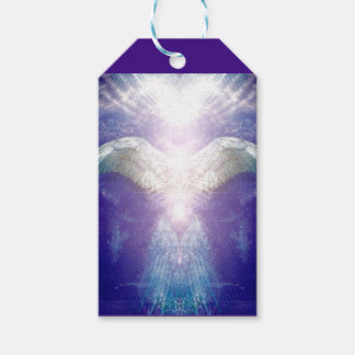Etiqueta Para Presente Tag violeta de prata do presente do anjo