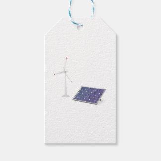Etiqueta Para Presente Turbina eólica e painel solar