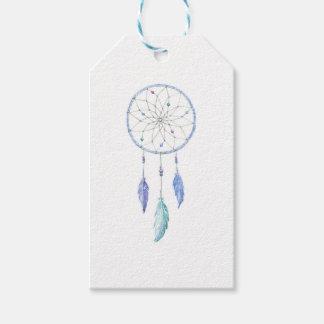 Etiqueta Para Presente Watercolour Dreamcatcher com 3 penas