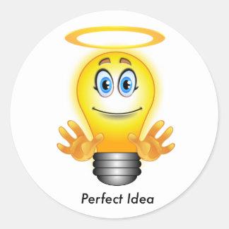 Etiqueta perfeita da ideia adesivo