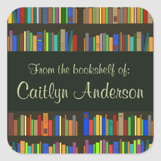 Etiqueta personalizada do Bookplate das estantes