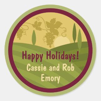Etiqueta personalizada do vinho do feriado do adesivo