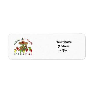 Etiqueta Pimentas da dança do cacto da festa de Cinco De