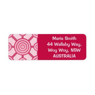 Etiqueta Pintura aborígene do ponto