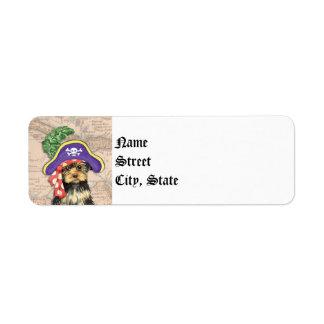 Etiqueta Pirata de Yorkie