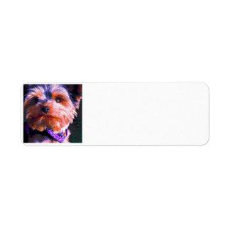 Etiqueta Pop art do yorkshire terrier