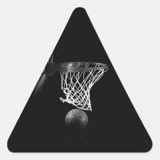 Etiqueta preta & branca do triângulo do adesivo triangular
