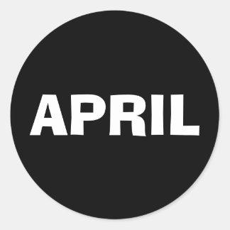 Etiqueta preta de improviso de abril por Janz