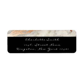 Etiqueta Preto de cobre de mármore RSVP branco do rosa do