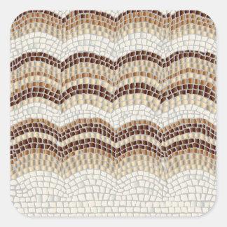 Etiqueta quadrada Matte pequena do mosaico bege