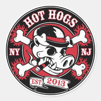 Etiqueta redonda clássica quente de Hogs™