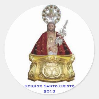 Etiqueta redonda de Senhor Santo Cristo* Adesivos Em Formato Redondos