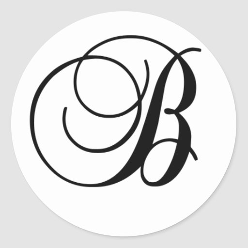 Etiqueta redonda inicial de B Adesivos