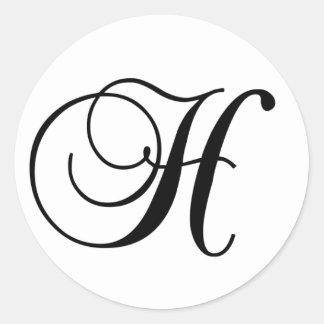 Etiqueta redonda inicial de H Adesivos Em Formato Redondos
