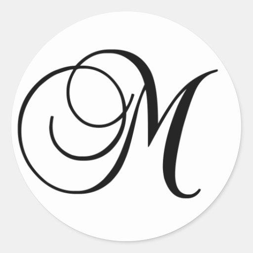 Etiqueta redonda inicial de M Adesivos Em Formato Redondos