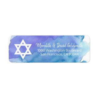 Etiqueta Retorno de Mitzvah do bar da estrela de David da