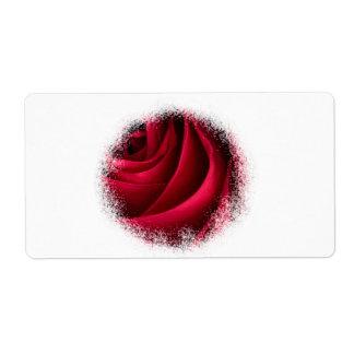 Etiqueta Rosa vermelha da flor