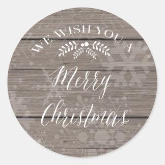 Etiqueta rústica do Natal Adesivo