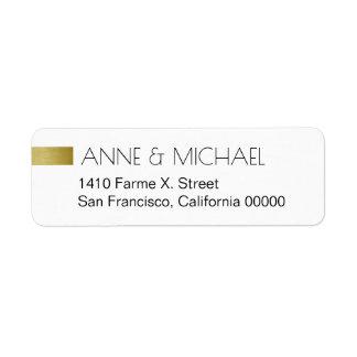 etiqueta simples & limpa do casamento com nomes do