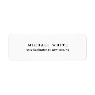 Etiqueta Simples minimalista clássico elegante liso