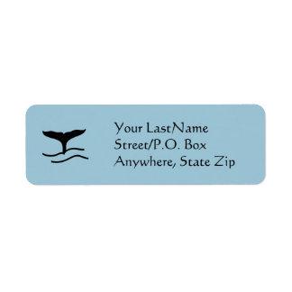 Etiqueta - solhas da baleia etiqueta endereço de retorno