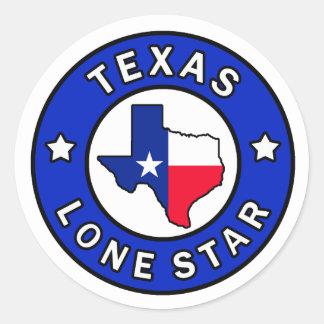 Etiqueta solitária da estrela de Texas