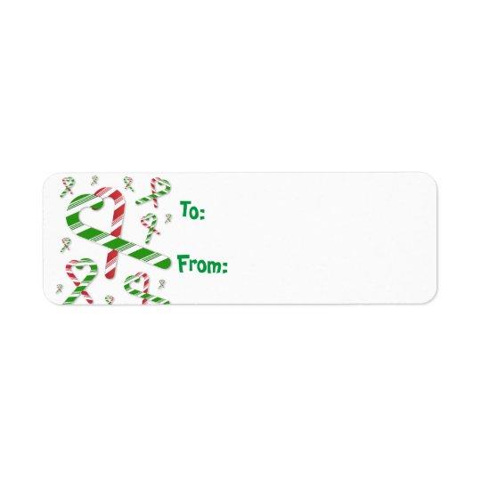 Etiqueta Tag verde vermelho Lables do presente do bastão de