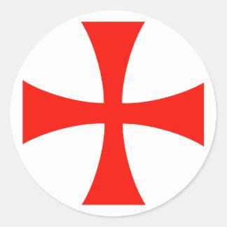 Etiqueta transversal de Knight's* Templar Adesivo