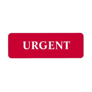 Etiqueta urgente