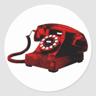 Etiqueta velha da caixa de telefone da mesa do pop adesivo