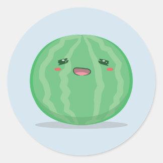 Etiqueta verde bonito da melancia